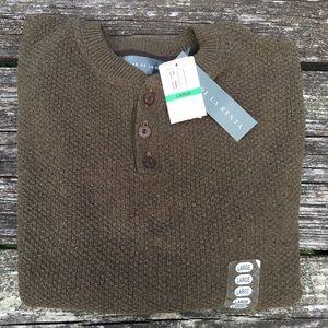 NWT Oscar De La Renta Men's Sweater Size L Brown
